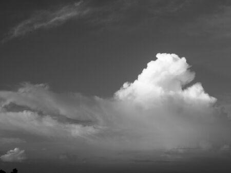 ominous: Dark ominous grey storm clouds. Dramatic sky Stock Photo