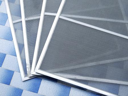 오래 된 더러운 모기 와이어 화면
