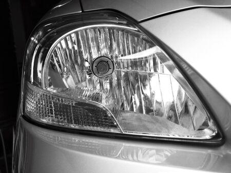 headlights: Car headlights. Exterior detail
