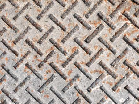 diamond plate: Background of old metal diamond plate texture Stock Photo