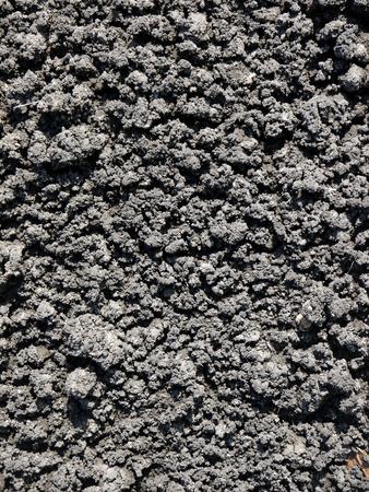 black soil: Black soil texture Stock Photo
