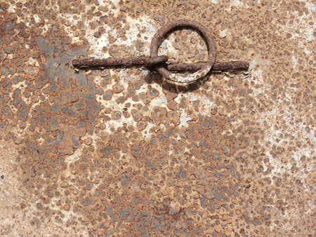 crack pipe: Rust texture as metal plate background Stock Photo