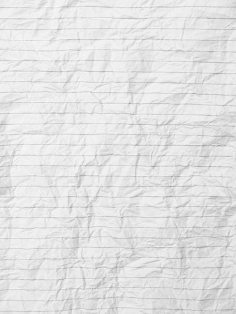 crumpled sheet: Crumpled sheet of lined paper or notebook paper