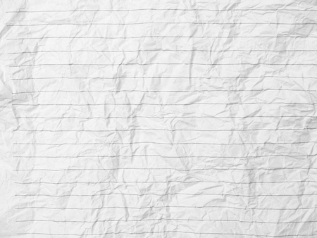 Crumpled Sheet Of Lined Paper Or Notebook Photo