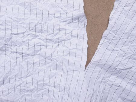torn: torn paper with line
