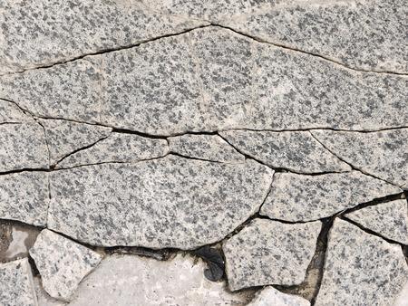 rupture: crack stone floor texture