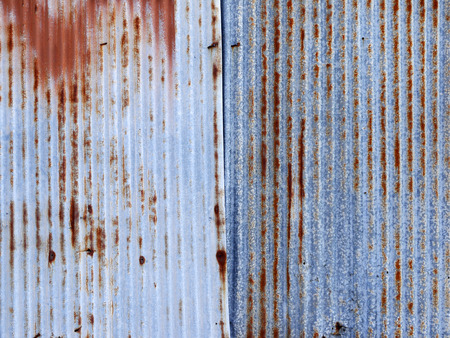 corrugated steel: Old damage rusty zinc plat wall
