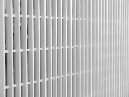 vent: Lines of air vent on building closeup Stock Photo