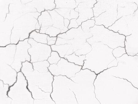 entropy: crack on white background Stock Photo