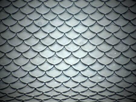 garret: Pattern grey metal roof