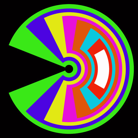 chromatic colour: Abstract colorful circle