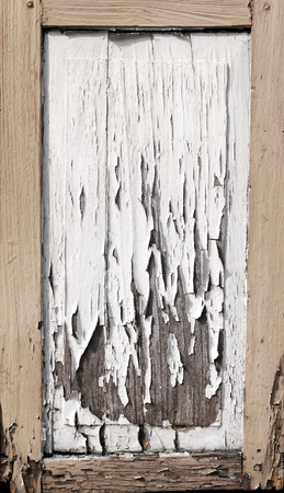 flawed: Old wooden door with cracked Stock Photo