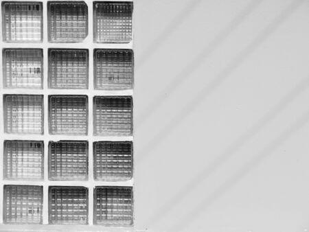 glass block: Glass block wall