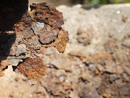 pile of rust metal closeup