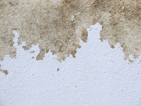 sturdy: white wall with cracks Stock Photo
