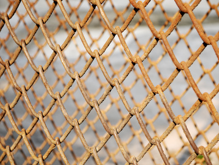 wire mesh: Rusty wire mesh cage closeup