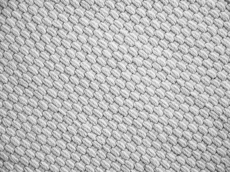 doormat: white fabric doormat texture Stock Photo