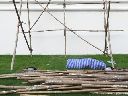 andamios: andamios de bambú