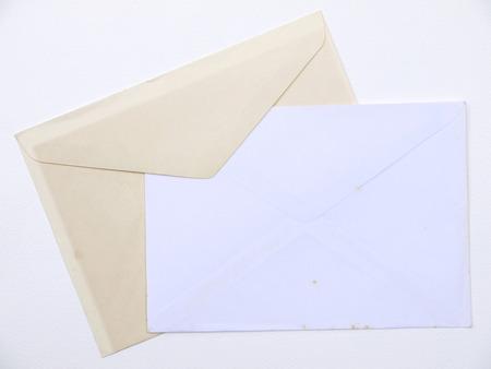 old envelope: Old paper envelope on white background
