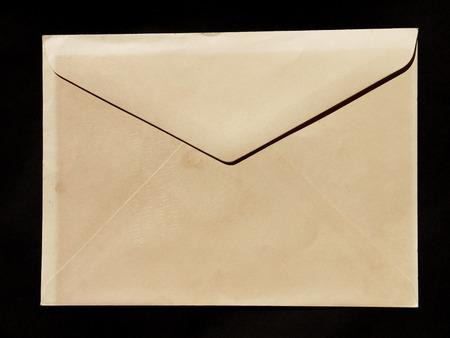 old envelope: Old worn and grunge brown paper envelope