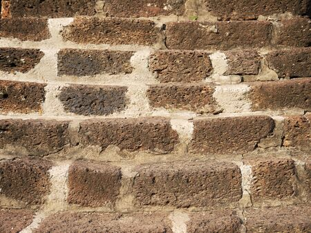 stair: Old brick stair for stupa Stock Photo