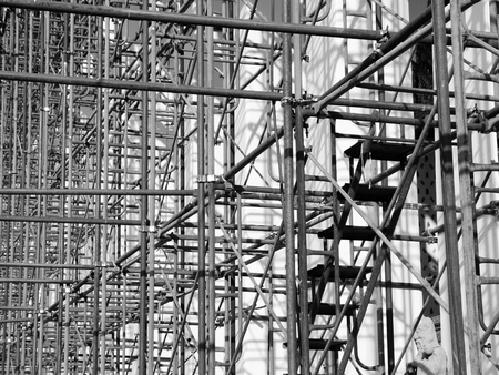 staging: Scaffolding Elements black and white Stock Photo