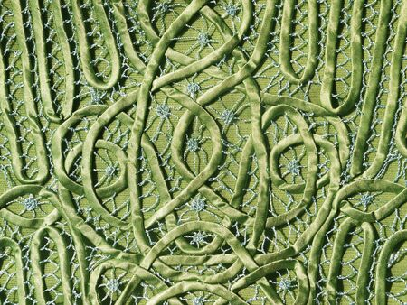 green fabric cloth pattern texture