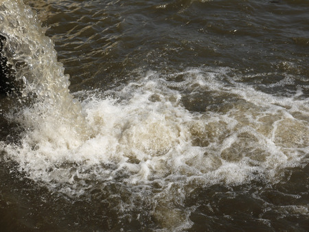 drains: Dirty drains are dumped in water of small river
