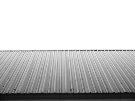 Architectural detail of metal roofing on commercial construction of modern building complex Stock Photo