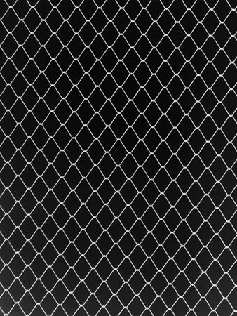 chain link fence: Seamless mesh netting on black background. Seamless chain link fence on black