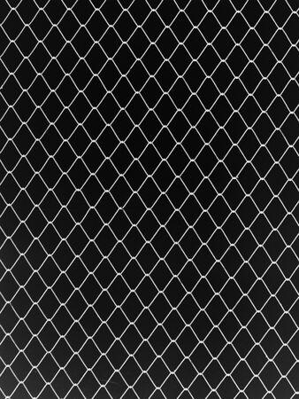 link fence: Seamless mesh netting on black background. Seamless chain link fence on black