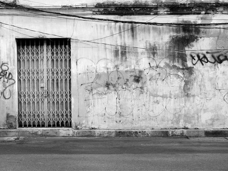 aged: Aged street wall background