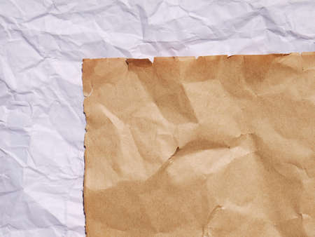 crumpled sheet: old paper crumpled sheet Stock Photo