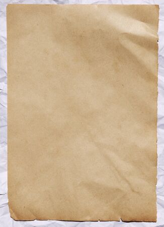 paper sheet: old paper crumpled sheet Stock Photo