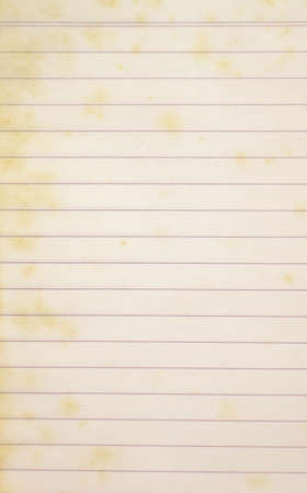 inscribe: old lined paper Stock Photo
