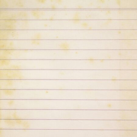 yellowing: old lined paper Stock Photo