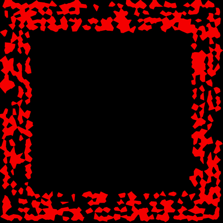 smeary: Black background with a red frame