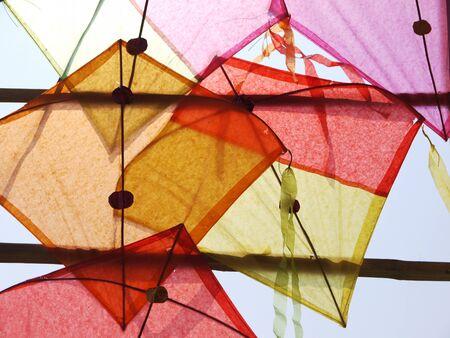 paper kites: Colorful Thai Kites Stock Photo
