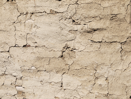 crack: cement wall with crack Stock Photo