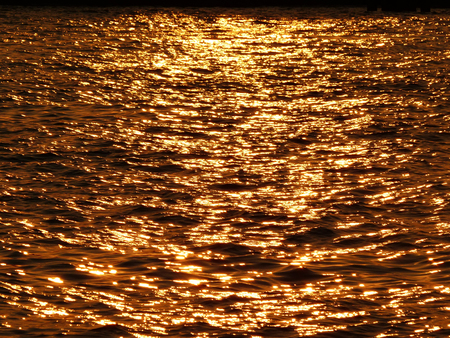 warm water fish: Sunset light water wave texture