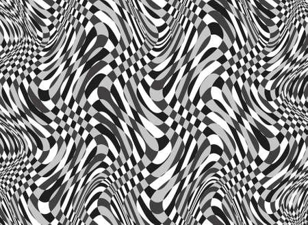 hypnotizing: Black and white illusion Stock Photo