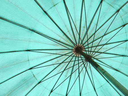 chromatic colour: Bottom view of old umbrella