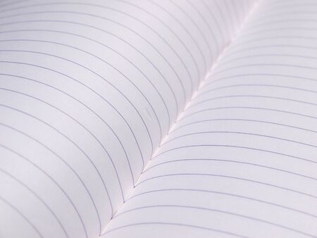 college ruled: closeup notebook paper with lines Stock Photo