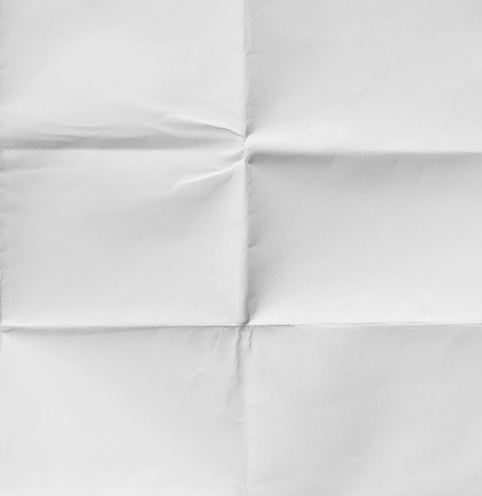 White sheet of paper folded texture Stock Photo