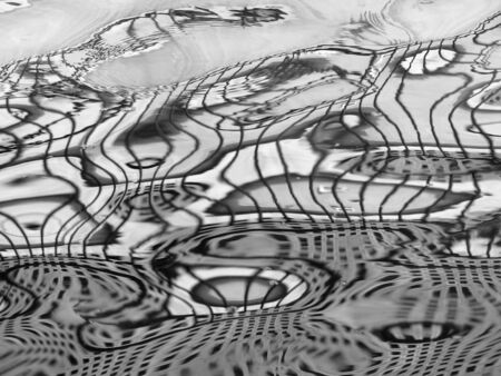 a mirage: Abstract water wave reflection