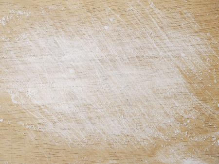 white flour: white flour on wood Stock Photo