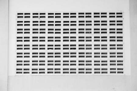orificio nasal: Las paredes blancas con rejillas de ventilación