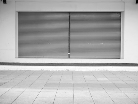 grille: corrugated metal sheet,white Slide door ,roller shutter texture