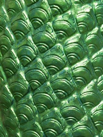 stucco: closeup green on Serpent stucco Stock Photo