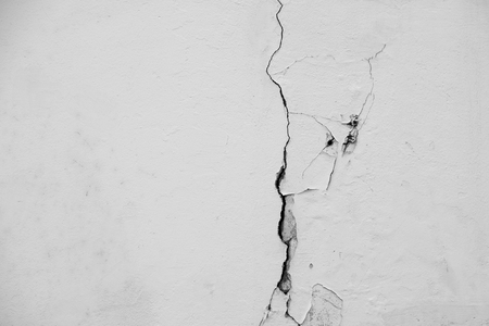cement pole: White wall crack